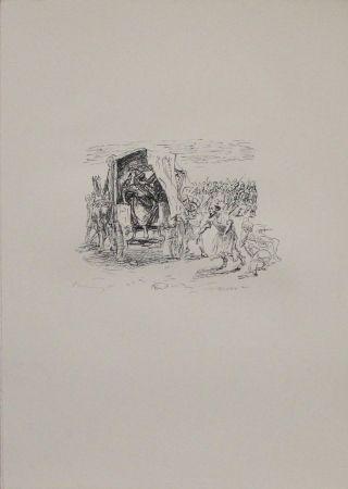Lithographie Slevogt - Kyros zeigt Epyaxa sein Heer