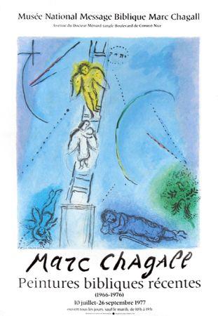 Lithographie Chagall - '' Léchelle de Jacob ''