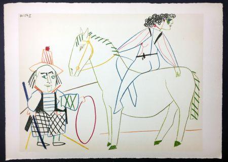 Aucune Technique Picasso - L'écuyère et l'homme au cerceau (de La Comédie Humaine - Verve 29-30. 1954)