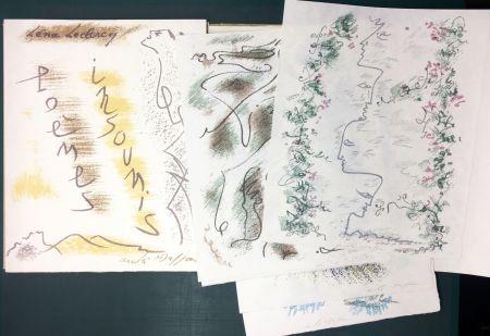 Livre Illustré Masson - Léna Leclercq. POÈMES INSOUMIS. 10 lithographies signées (1963)