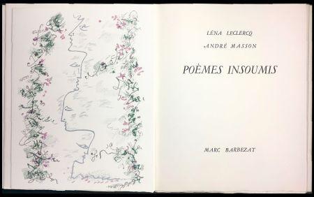 Livre Illustré Masson - Léna Leclercq. POÈMES INSOUMIS. 8 lithographies en couleurs (1963)