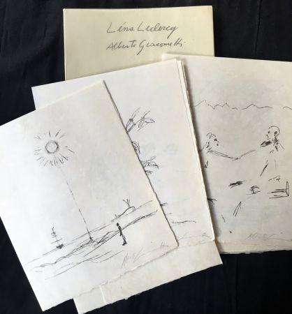 Livre Illustré Giacometti - Léna Leclercq : POMME ENDORMIE. Lithographies originales d'Alberto Giacometti.