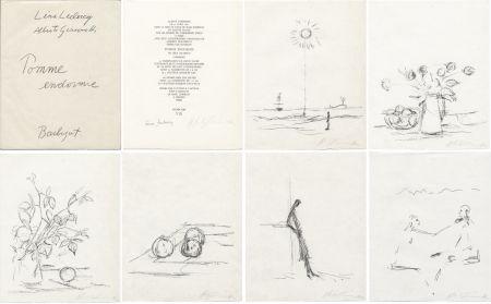 Livre Illustré Giacometti - Léna Leclercq : POMME ENDORMIE. Lithographies originales signées d'Alberto Giacometti.