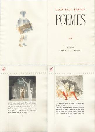 Livre Illustré Alexeïeff - Léon-Paul Fargue : POÈMES. Eaux-fortes en couleurs par Alexeïeff (1943)