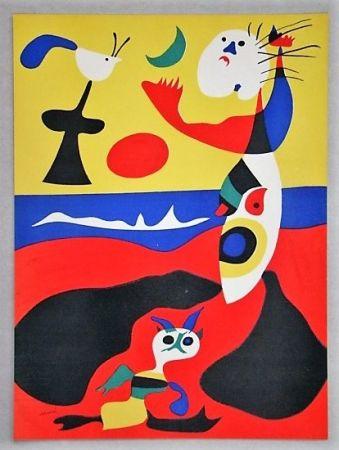Lithographie Miró - L'été