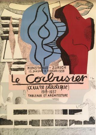 Lithographie Le Corbusier - L'Œuvre Plastique, Kunsthaus Zürich  (hand-signed)