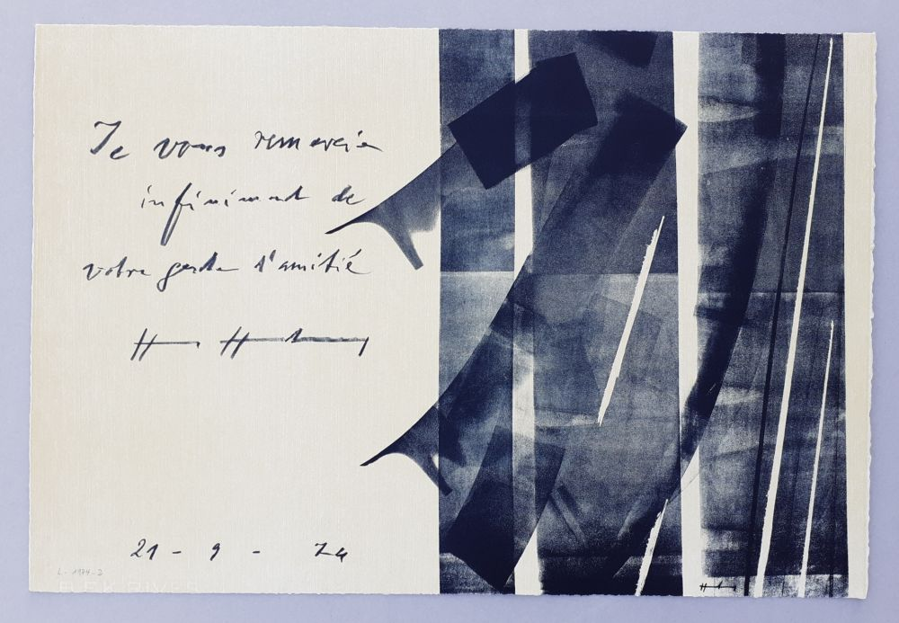 Lithographie Hartung - L-1974-2