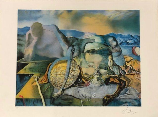 Lithographie Dali - L' énigme sans fin