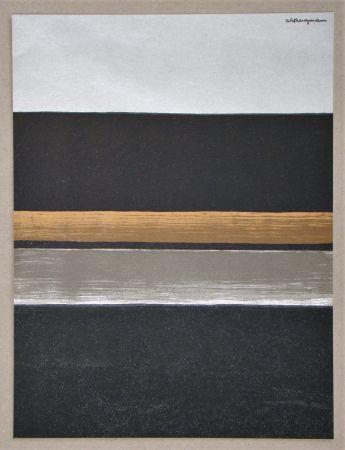 Lithographie Bergmann - L 11 - 1970 Horizon noir