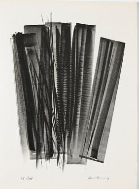 Lithographie Hartung - L 162 (Jean Cassou: vingt-deux poèms)