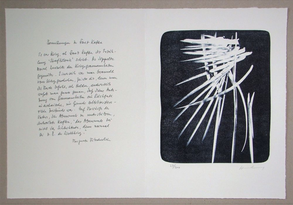 Lithographie Hartung - L 1976-27