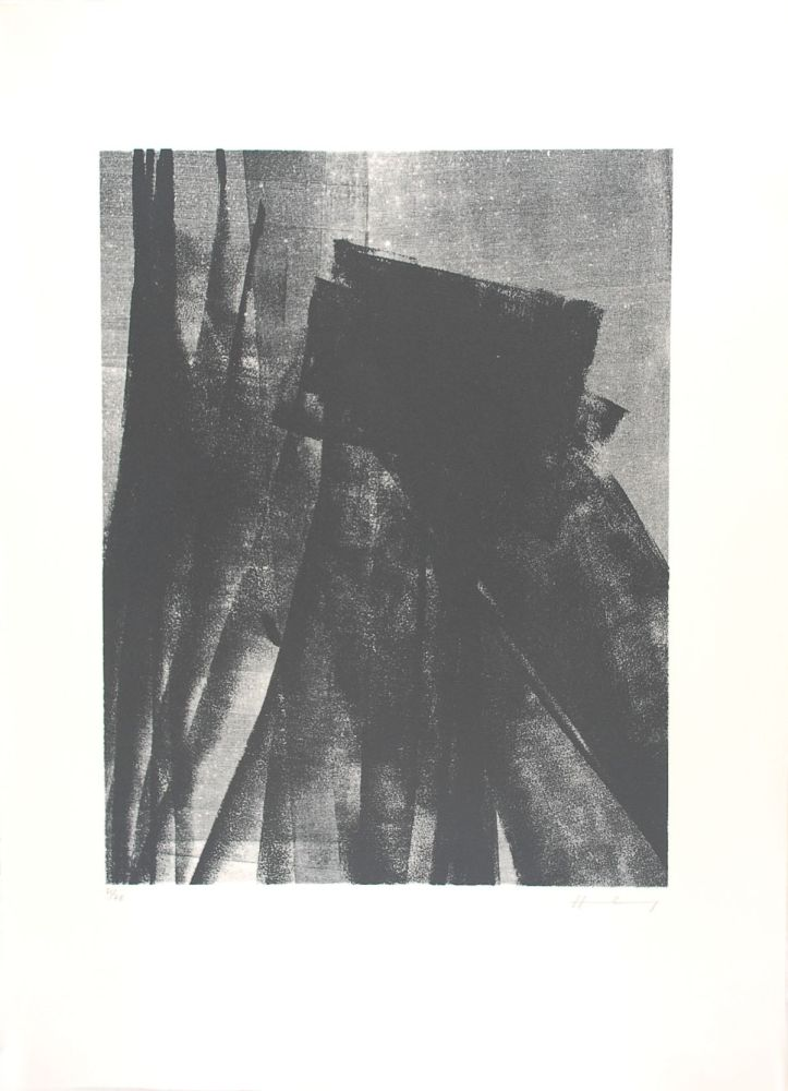 Lithographie Hartung - L 1977-4