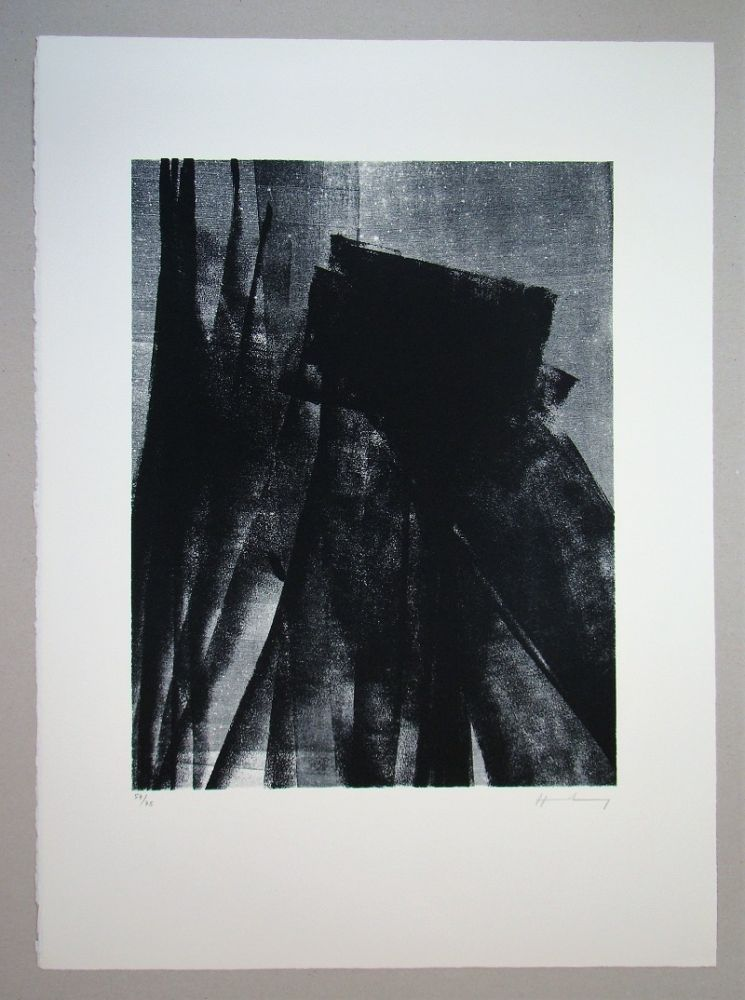 Lithographie Hartung - L 1977 - 4