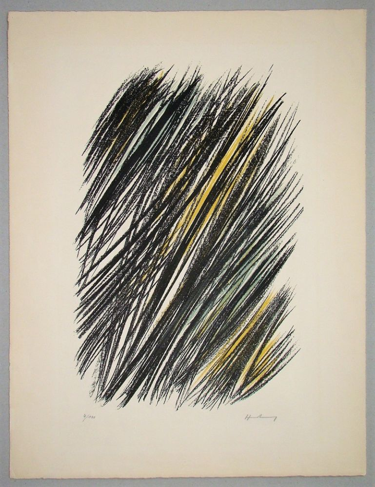 Lithographie Hartung - L 19 - 1957