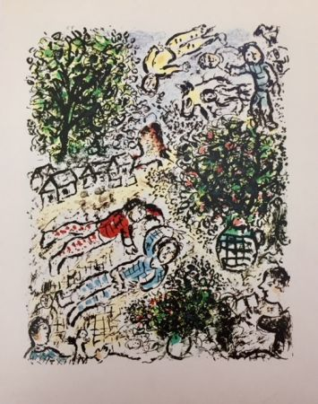 Lithographie Chagall - L' Abre Vert, Mars