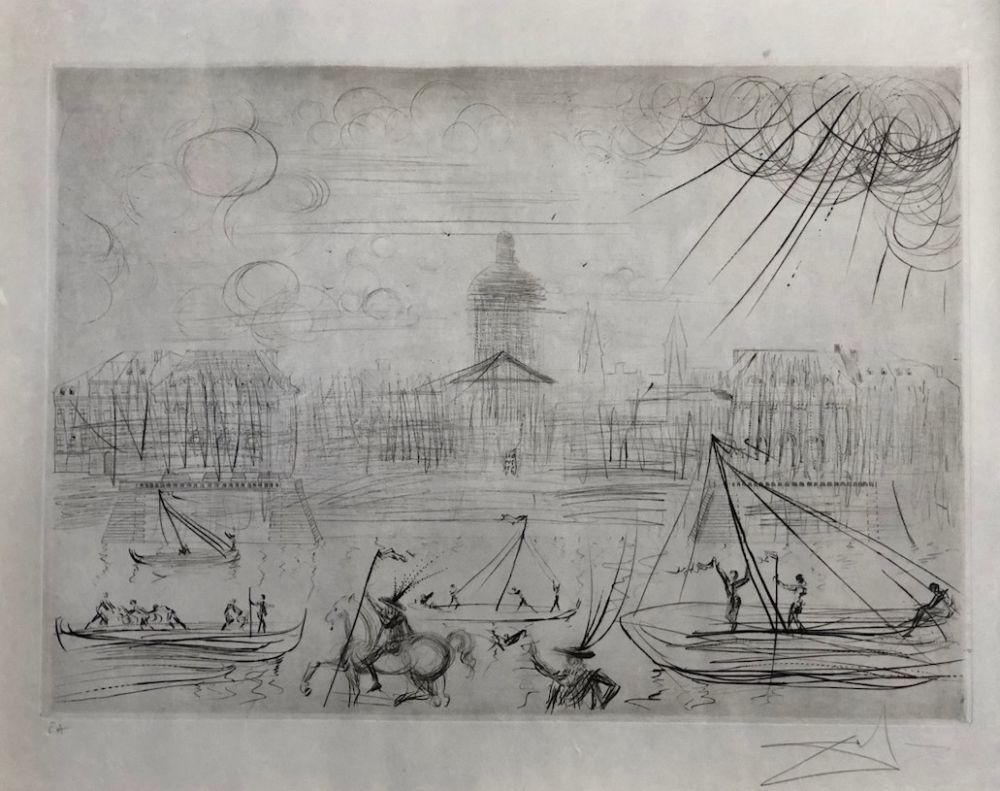 Eau-Forte Dali - L' Academie des beaux arts