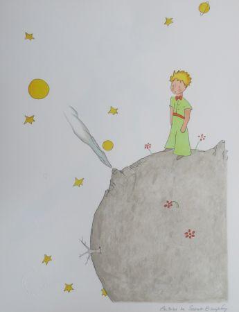 Lithographie Saint-Exupéry - L asteroïde B-612