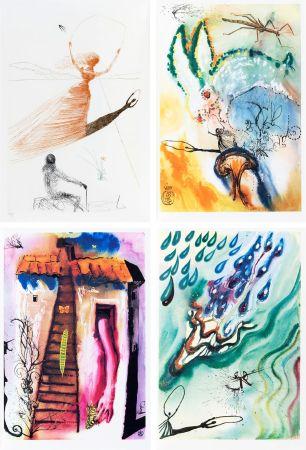 Livre Illustré Dali - L. Carroll: ALICE IN WONDERLAND. 1 eau-forte et 12 bois et héliogravures en couleurs. Avec suite sur Japon nacré (1969).