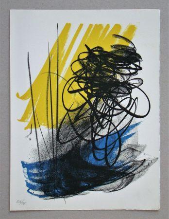 Lithographie Hartung - L différée - 2, 1964