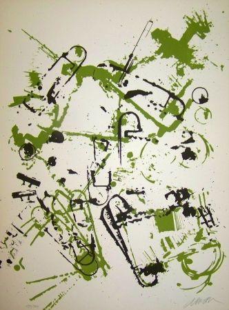 Lithographie Arman - L 'interieur des choses II le transistor