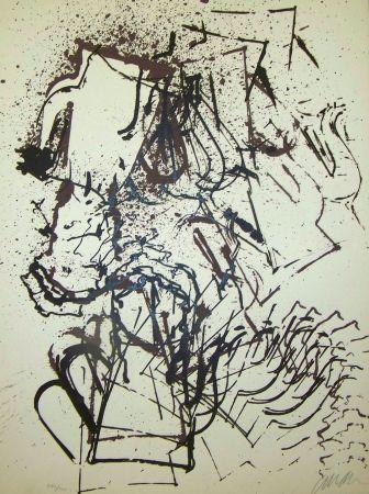 Lithographie Arman - L interieur des choses III la cafetière