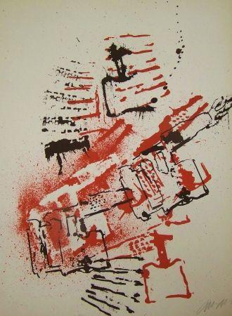 Lithographie Arman - L interieur des choses VI la lampe a souder