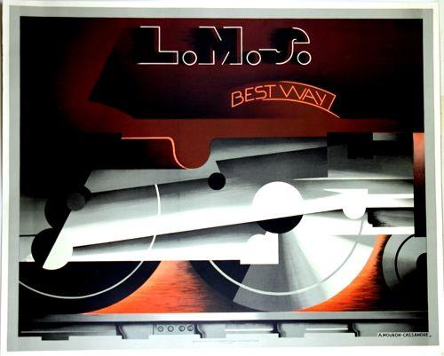 Lithographie Cassandre - L M S  Best Way