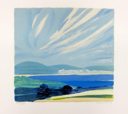 Lithographie Muhl - La Baie de Cannes
