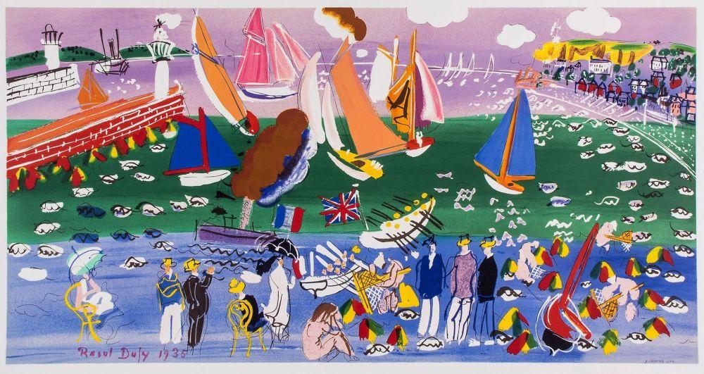 Lithographie Dufy - LA BAIE DE SAINTE-ADRESSE (1935).