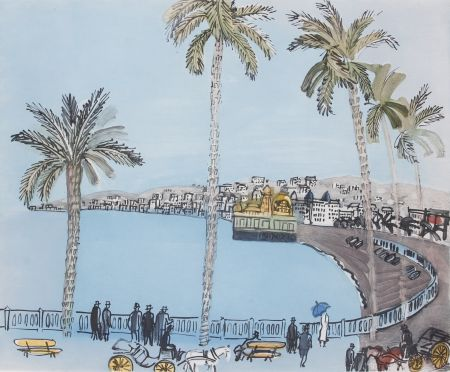 Aquatinte Dufy - La baie des Anges a Nice