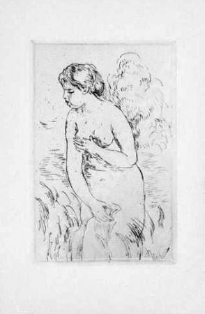 Aquatinte Renoir - La Baigneuse, 1910