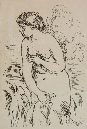 Gravure Renoir - La Baigneuse Debouta Mi-Jambes
