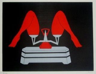 Lithographie Marien - La balance