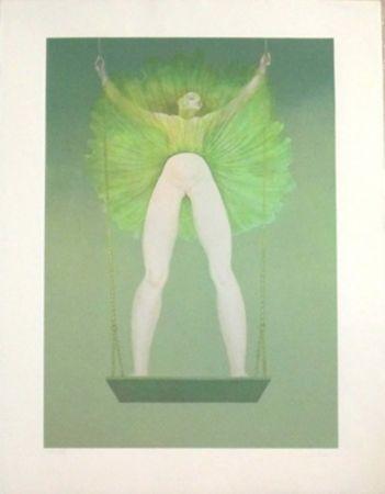 Lithographie Fini - La Balancoire