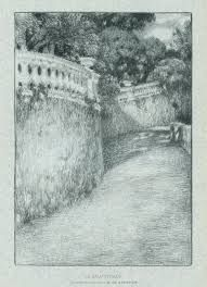 Lithographie Le Sidaner - La balustrade