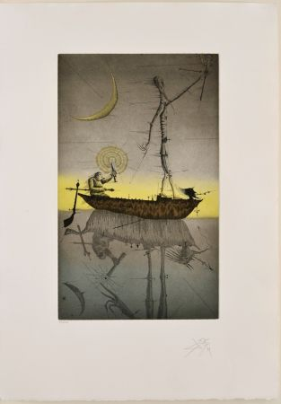 Eau-Forte Et Aquatinte Ponç - La barque, XV