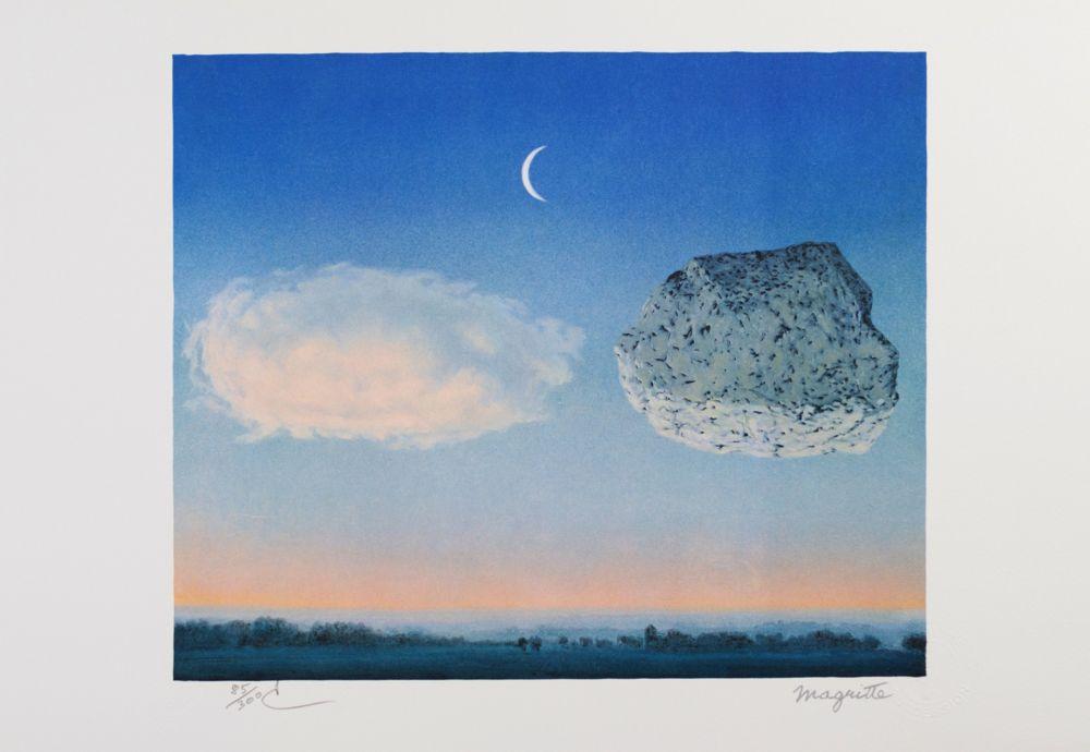 Lithographie Magritte - La Bataille de Argonne