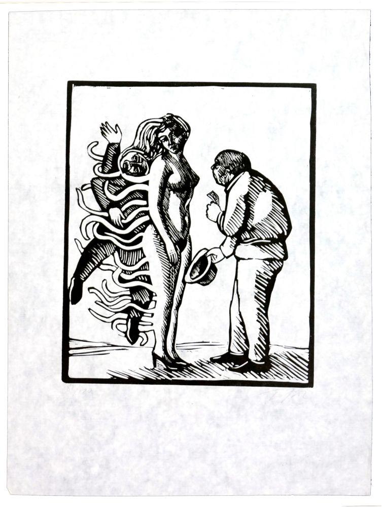 Linogravure Topor - La belle affaire