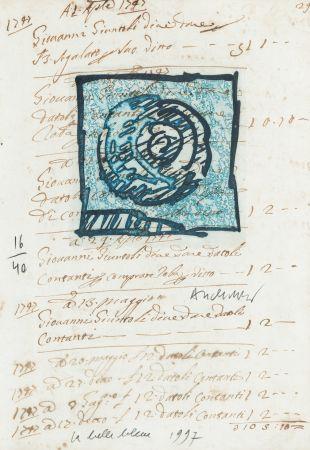 Gravure Alechinsky - La belle bleue