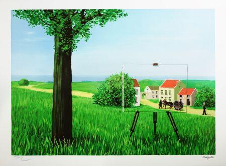 Lithographie Magritte - La Belle Captive (The Fair Captive)