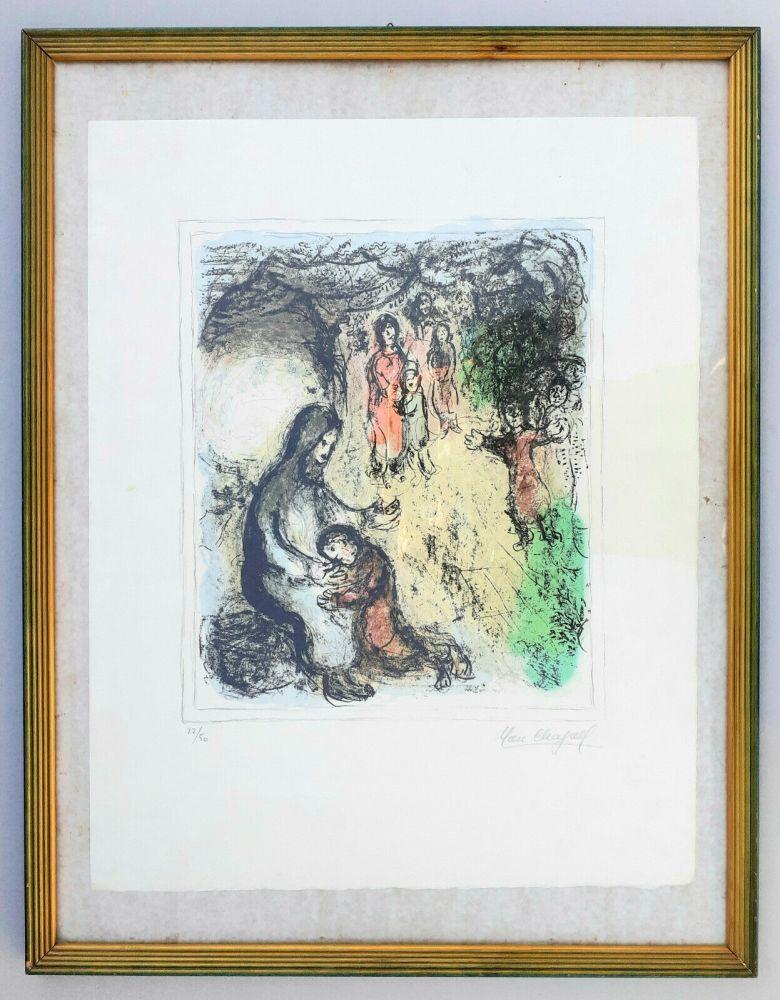 Lithographie Chagall - La benediction de Jacob (Jacob's benediction)