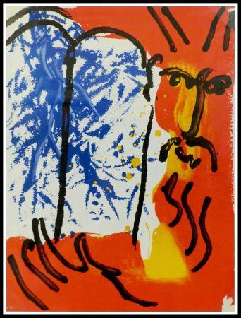 Lithographie Chagall - LA BIBLE - MOISE I