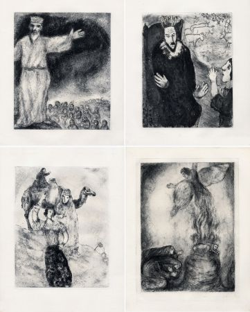 Eau-Forte Chagall - LA BIBLE. (Suite des eaux-fortes gravées de 1931 à 1939 - Tériade 1956).