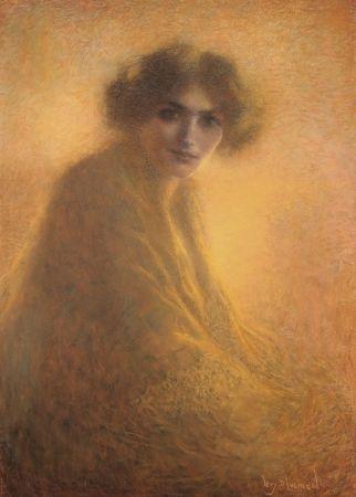 Aucune Technique Levy-Dhurmer - La Bienveilleante / The Kind Lady - Dessin Original / Original Drawing - PASTEL - 1917