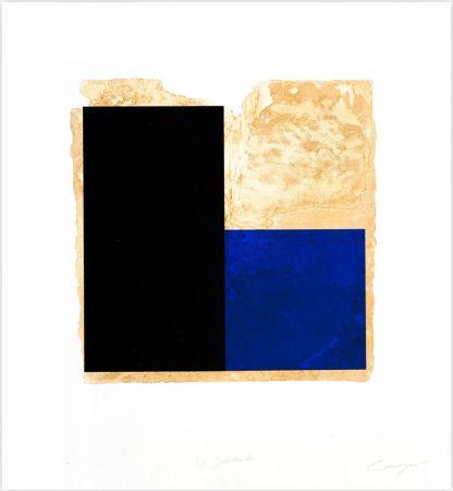 Eau-Forte Canogar - La Bienvenida (azul)