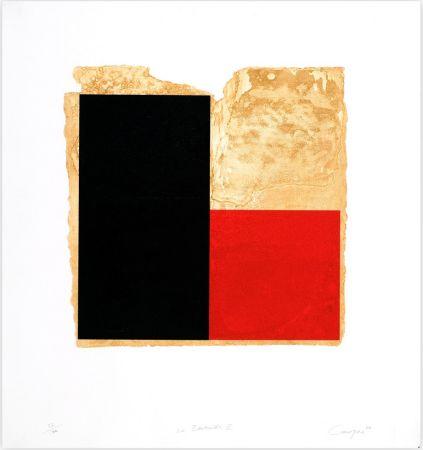 Eau-Forte Canogar - La Bienvenida (rojo)