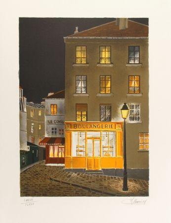 Lithographie Lecoindre - La boulangerie