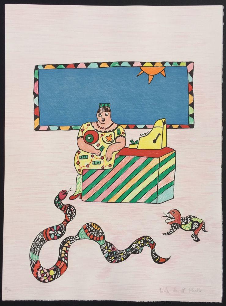 Lithographie De Saint Phalle - La Caissiere (The Cashier)