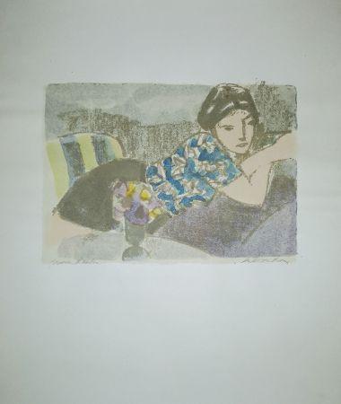 Lithographie Salvadori - La camicetta blu