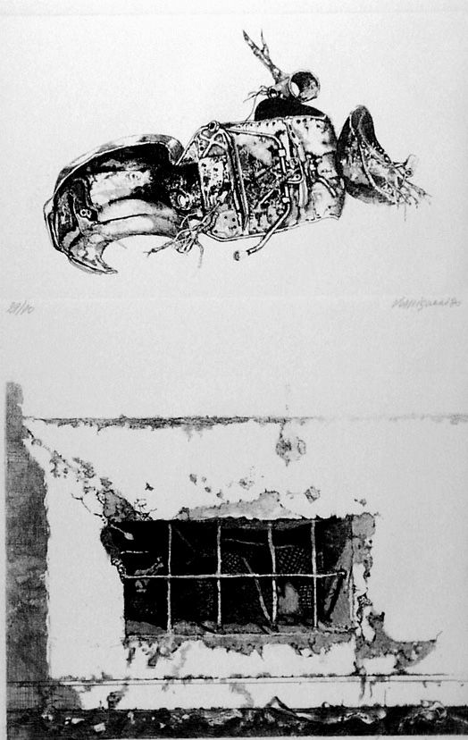 Eau-Forte Vespignani - La carcassa - Finestra sul cortile